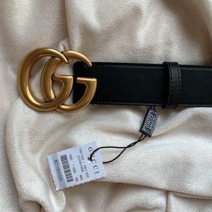 hNew Gucci Belt Åuthèntíć Double G Marmot
